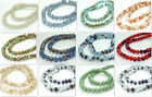 72PCS Rondelle jade glass loose BEADS 8MM Multi-Color for choose