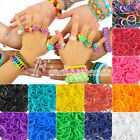 Approx 200pcs Refill Rubber Loom Bands Rainbow With 15Pcs S Clips DIY Bracelet