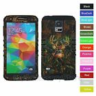 Samsung Galaxy S5 Camo Mossy Oak Deer Hybrid Rugged Impact Protector Case Cover