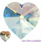 38mm CLEAR CRYSTAL HEART pendant for crystal suncatcher craft jewellery prism