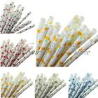 25Pcs Starts Pattern Paper Drinking Straws Wedding Party Birthday Decoration