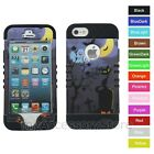 For iPhone 5 5S Halloween Graveyard Hybrid Rugged Impact Armor Phone Case Cover