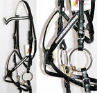 FSS GLOW 2 row Crystal BLING German Comfort WHITE Padded Grackle Figure 8 Bridle