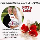 Wedding Personalized CD & DVD Wedding Album or Video Your Wed Pic on Disk Front