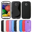 Evecase Slim Flexible TPU Gel Skin Protector Back Cover Case For Motorola Moto E