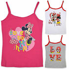 Girls Minnie Mouse Vest Top Kids Disney Sleeveless T Shirt New Age 3  -  8 Years