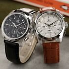SEWOR Mens Mechanical Automatic 2 Colors 6 Hands Date Day Leather Wrist Watch