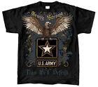 Military Golden Army Eagle Adult T-shirt-Black