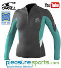 O'Neill Bahia Women's Front Zip Wetsuit Jacket 1mm Neoprene Dark Grey/Teal