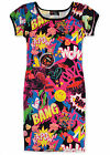 Girls Comic Print Midi Dress Kids Party Bodycon Dresses New Age 7 - 13 Years
