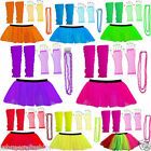 Labreeze Neon TUTU Skirt Set Party 1980s Theme Fancy Dress Set Outfit Halloween