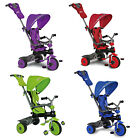 DELUXE CHILDRENS 3 IN 1 PEDAL TRIKE WITH HOODED CANOPY -PURPLE AND RED AVAILABLE