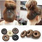 Hot Women Synthetic Fiber Hair Bun Donut Ring Blonde Hair Extension Wig 3 Size