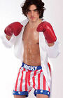 Rocky Balboa Boxing 80's Fancy Dress Costume Gown, Gloves & Shorts Large or XL