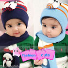Sweet Lovely Bee Baby Toddler Boy Girl Kids Warm Hat Beanie Cap +Scarf 2in1 Set