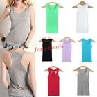Basic Cotton Women's Solid Tank Top Racer Back Vest Sleeveless T-shirt 9 Colors