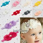 Lovely Baby Kids Infant Cute Flowers Faux Pearl Hair Ribbon Hairband  Decoration