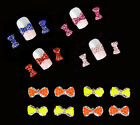10pcs 3D Pearl Bow Nail Art Alloy Decoration Jewellery Glitter Rhinestones DIY