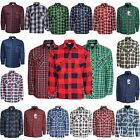MENS THICK PADDED QUILTED CHECK LUMBERJACK SHIRT WARM WINTER WORK SHIRT M-5XL