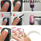 Beauty Durable French Manicure Nail Art Form Fringe Guides Sticker Diy Stencil