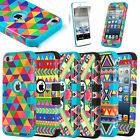 For iPod Touch 5th Gen Hard Soft Rubber High Impact Armor Case Hybird Cover Skin