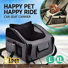 iPET Pet Carrier Dog Cat Car Booster Seat Portable Soft Travel Bag Large L XL