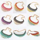 Fashion Charm Jewelry Braided Chunky Statement Bib Pendant Choker Chain Necklace
