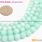 6mm 8mm Faceted Round Amazonite Blue Jade New Beads Jewelry Making Strand 15""