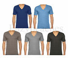 American Apparel Unisex XS-2XL Vintage V-neck Track Tee Tri-blend T-Shirt tr461