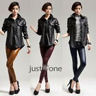Women Lady Smooth Sexy Faux Leather High Waist Slim Elastic Pants Legging Hot