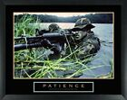 Army Sniper Patience Motivational Poster 22x28 Framed Military Freedom Troops