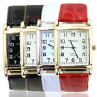 Leather Band Square Dial Quartz Watches Fashion Chic Men Women Wrist Watch New