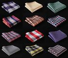 CA check Men Silk Satin Pocket Square Hanky Wedding Party Handkerchief