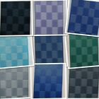 ♥ 25mm Satin Modern Cubic Chequered Ribbon Design ♥ Square,Cube ♥ 1,2,4 & 8m ♥