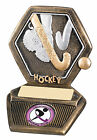 Resin Hockey Tackle Scene Hexagon Sports Trophy-2 Sizes-Free Engraving GW480