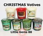 YANKEE CANDLE VOTIVES ** CHRISTMAS SCENTS ** 15 HOUR CANDLE  YOU PICK THE SCENT