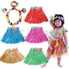 Hawaiian Luau Garland Headband Wristband Party Hula Skirt Fancy Dress Grass 30cm