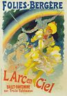 AP117 Vintage Folies Bergere Rainbow Theatre Advertisement Poster Print A2/A3/A4