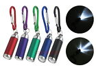 5 x Focus Adjust Mini LED Light Torch with Carabiner Key Chain Ring
