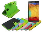 Leather Wallet Case Stand with Inner TPU Soft for Samsung Galaxy Note 3 III