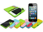 Leather Wallet Case Cover with Inner TPU Soft for Apple iPhone 5S 5