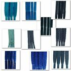 TZ Laces Blue Waxed - Round, Cord, Flat, All Lengths, For Boots, Shoes, Trainers