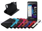 Leather Wallet Case Folding Cover Stand for Blackberry Z10