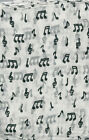 Treble Clefs and Music Notes 100% silk scarf