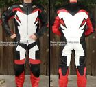 2pc Viper Motorcycle Race Racing Street Riding Leather Track Suit Red GP Armor