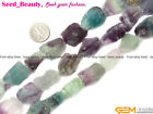 Natural Crude Baroque Chunky Fluorite Jewelry Making Gemstone Beads Strand 15""