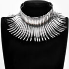 Fashion Jewelry Chain Strip Canine Charm Choker Chunky Statement Bib Necklace