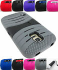 FOR SAMSUNG GALAXY S5 V 5 ACTIVE/SPORT EXO STRETCH DUAL LAYER CASE COVER+STYLUS