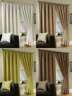 NEW LUXURIOUS FULLY LINED PENCIL PLEAT PLAIN WEAVE CURTAINS - 5 SIZES