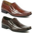 Delli Aldo M-18683 Mens Square Toe Loafers Dress Classic Shoes w/ Leather lining